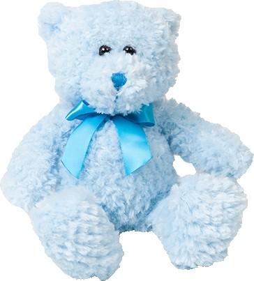 Bär hellrosa oder hellblau inkl.Druck