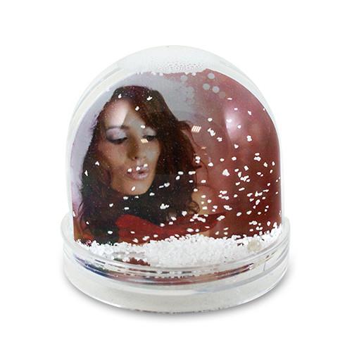 Schnee-Fotokugel mit 2 Wunschfotos